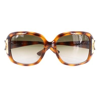 Salvatore Ferragamo SF666S Gancini Sunglasses with Case, Pouch, and Box
