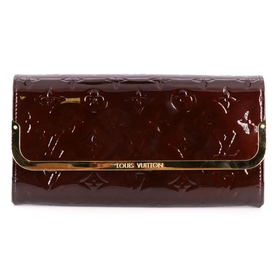 Louis Vuitton Rossmore Clutch Bag in Amarante Monogram Vernis