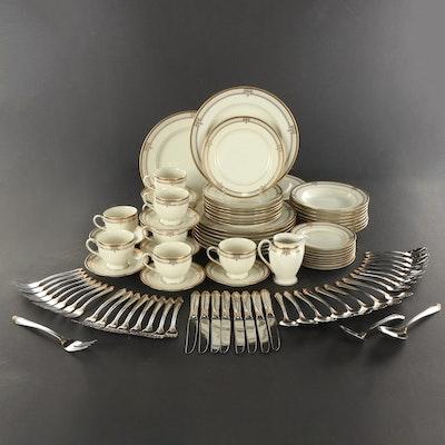 "Mikasa ""Regal Court"" Porcelain Dinnerware and Flatware, Late 20th Century"