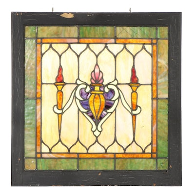 Stained Glass Window Pane,  Early 20th Century