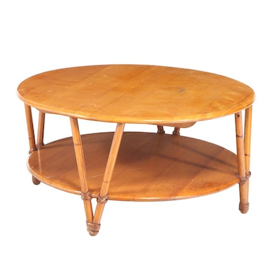 """Heywood-Wakefield """"Ashcraft"""" Steam-Bent Ash and Birch Coffee Table"""