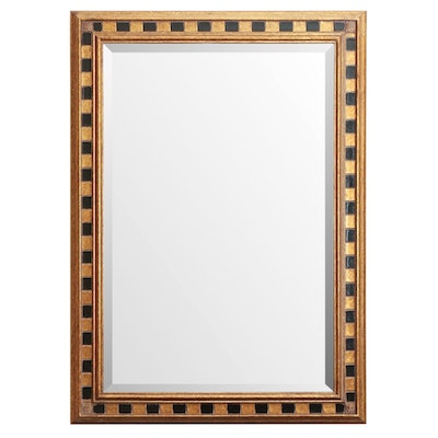 Giltwood Frame and Beveled Glass Rectangular Wall Mirror