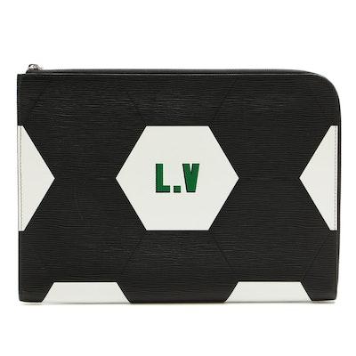 Louis Vuitton FIFA World Cup Pochette Jour GM in Black Epi Leather