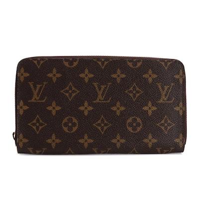 Louis Vuitton Zippy Organizer in Monogram Canvas and Vachetta Leather