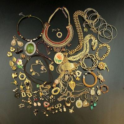 Jewelry Including Rhinestones, Enamel and Nolan Miller