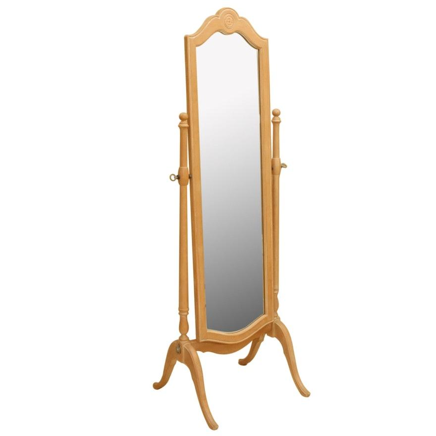 Ethan Allen Oak Chevel Mirror