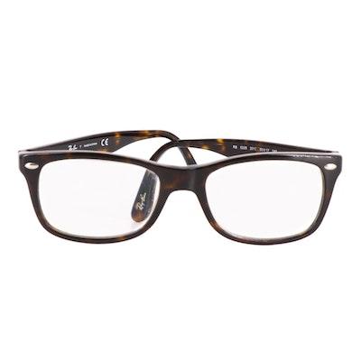 Ray-Ban RB5228 Prescription Rectangular Eyeglasses with Case