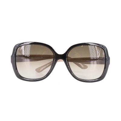 Salvatore Ferragamo Square Frame Sunglasses with Case, Pouch, and Box
