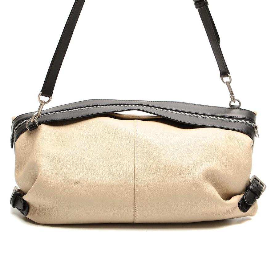 Loewe Bicolor Leather Foldover Shoulder Bag