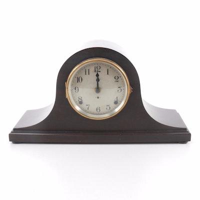 Seth Thomas Mahogany Veneer Tambour Mantel Clock, Early 20th Century
