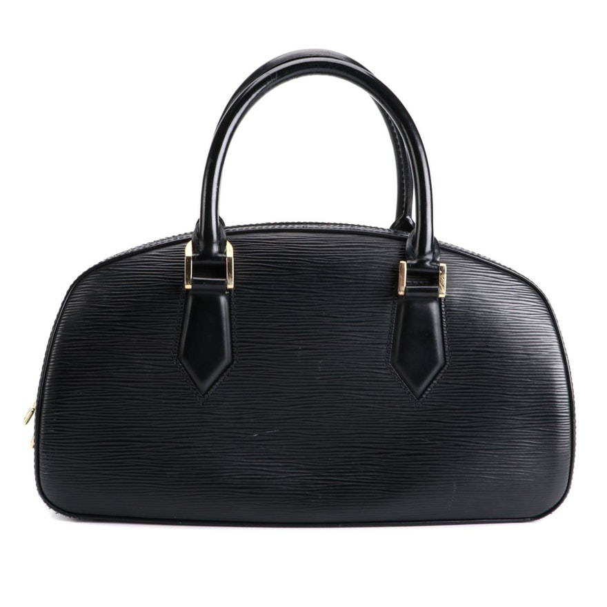 Louis Vuitton Jasmine Bag in Black Epi and Smooth Leather