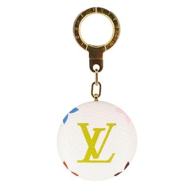 Louis Vuitton Astropill Light Key Chain in White Multicolore Monogram Canvas