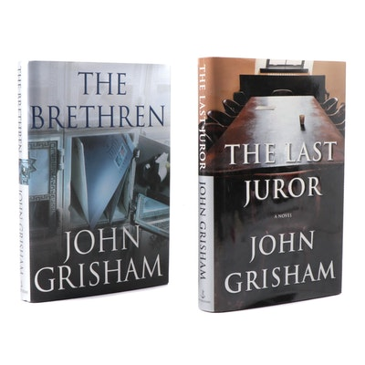 """Signed First Editions """"The Brethren"""" and """"The Last Juror"""" by John Grisham"""