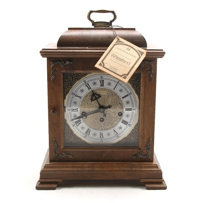 "Hamilton ""Wheatland"" Mantel Clock, Late 20th Century"