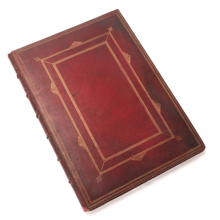 """Illustrated """"The Deserted Village"""" by Oliver Goldsmith, 1841"""