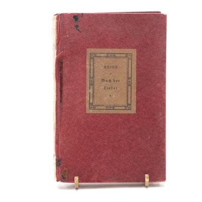 """German Language """"Buch der Lieder"""" by Heinrich Heine, 19th Century"""