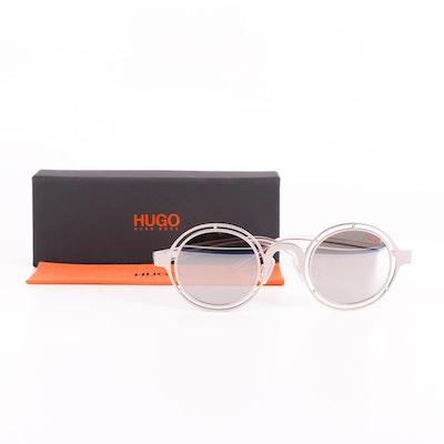 Hugo Hugo Boss Mirrored Metallic Round Sunglasses with Case