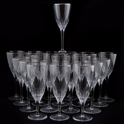 """Marquis by Waterford """"Claria Platinum"""" Crystal Stemware, 1999–2004"""