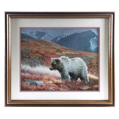 "Charles Fracé Offset Lithograph ""Alaskan Autumn"""