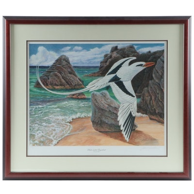 "John A. Ruthven Offset Lithograph ""White-Tailed Tropicbird, 2005"""