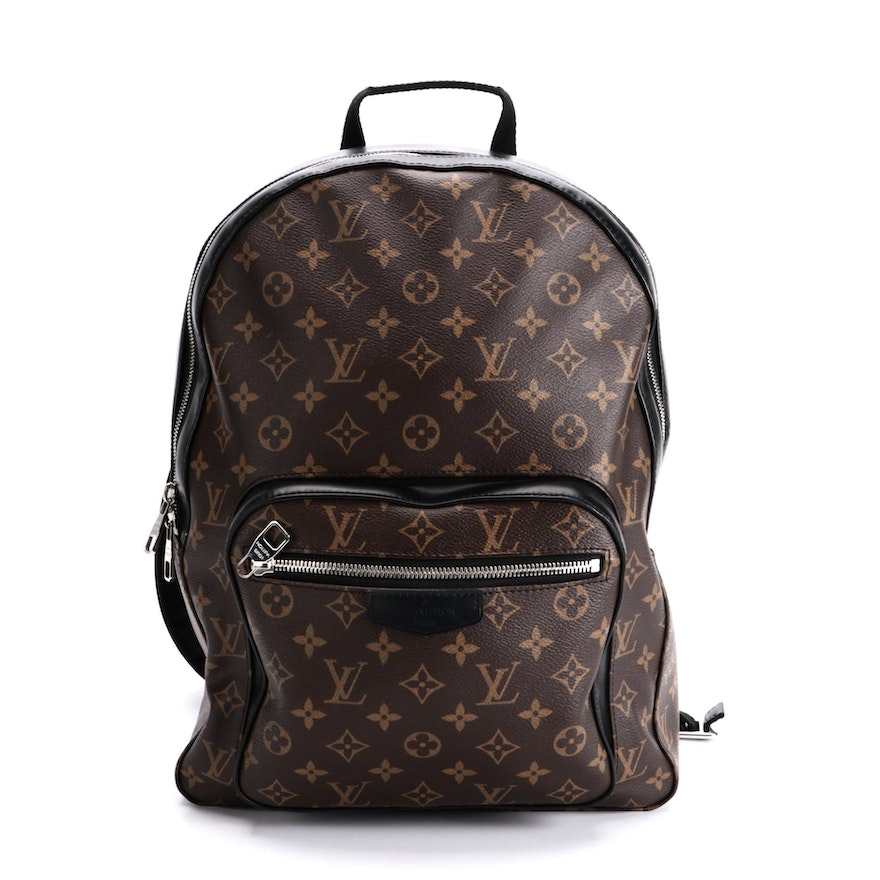 Louis Vuitton Josh Backpack in Monogram Canvas and Black Leather