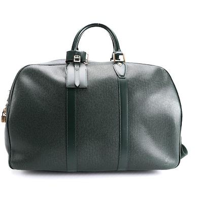 Louis Vuitton Kendall GM Keepall Bag in Epicea Green Taïga Leather