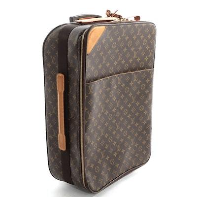 Louis Vuitton Pegase Legere 55 Suitcase in Monogram Canvas