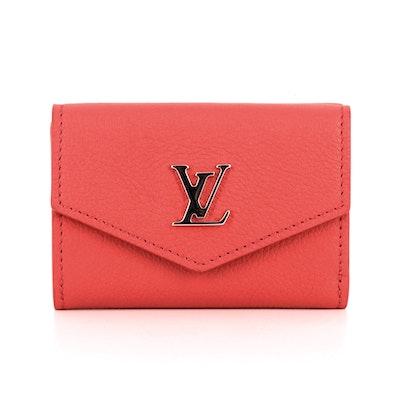 Louis Vuitton Lockmini Trifold Wallet in Calf Leather