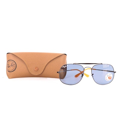 Ray-Ban RB 3561 The General Polarized Aviator Sunglasses with Case and Box