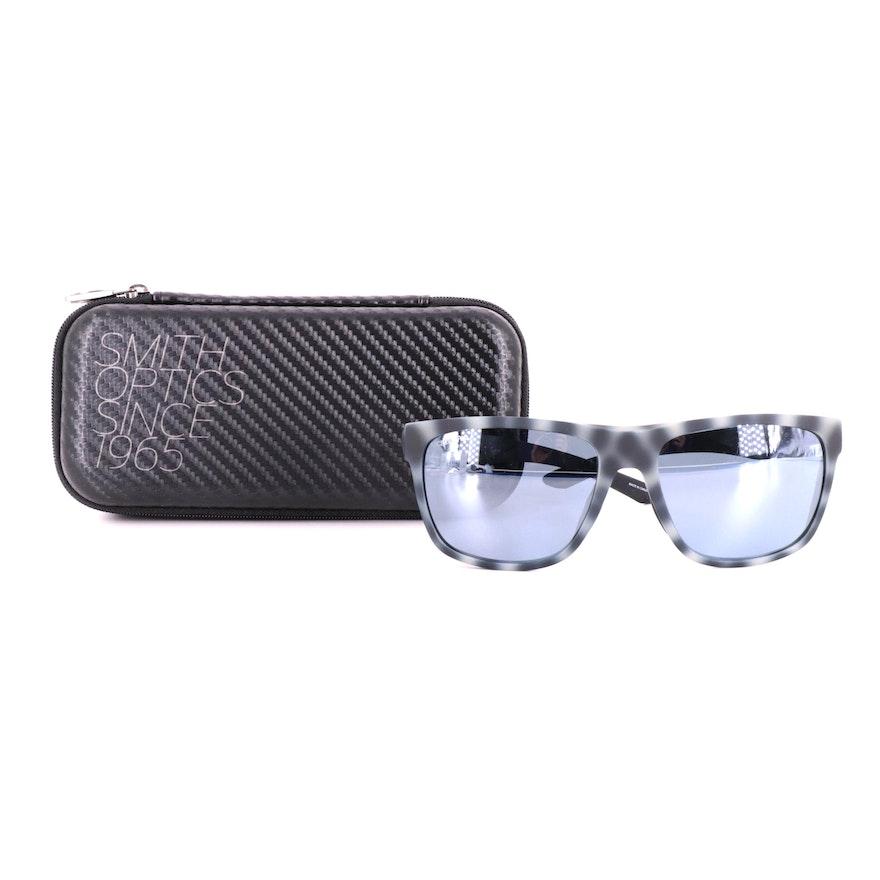 Smith Chromepop Polarized Barra Square Sunglasses in Matte Ash Tortoiseshell