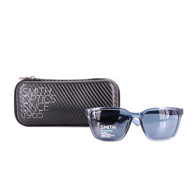 Smith Crystal Mediterranean Polarized Shoutout Sunglasses with Case