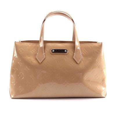 Louis Vuitton Wilshire PM in Rose Florentine Monogram Vernis Leather