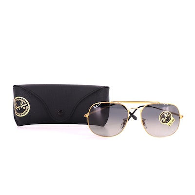 Ray-Ban RB 3561 The General Brow Bar Aviators with Case
