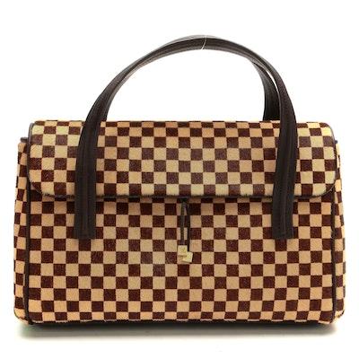 Louis Vuitton Limited Edition Lionne Bag in Damier Sauvage Calf Hair