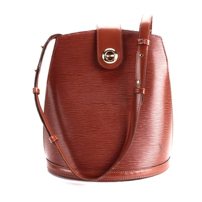 Louis Vuitton Cluny Bucket Bag in Kenyan Fawn Epi and Smooth Leather