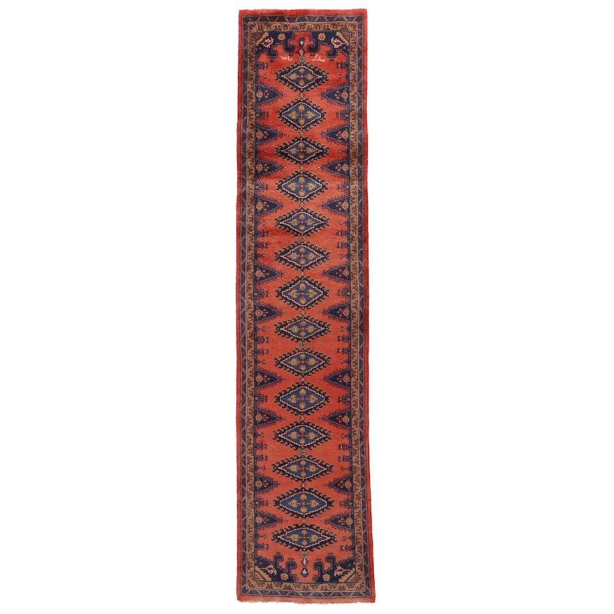 3' x 13'7 Hand-Knotted Persian Viss Carpet Runner