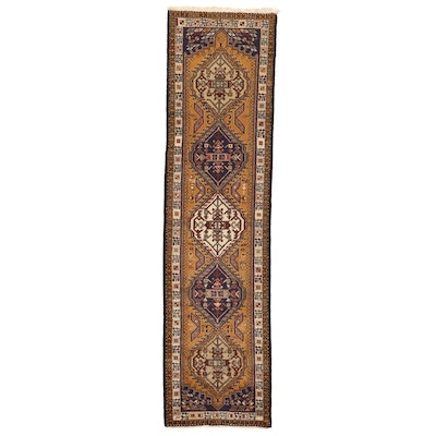 2'6 x 9'8 Hand-Knotted Persian Sarab Carpet Runner