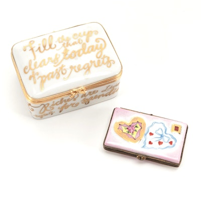Artoria and Love Letter Themed Porcelain Limoges Boxes