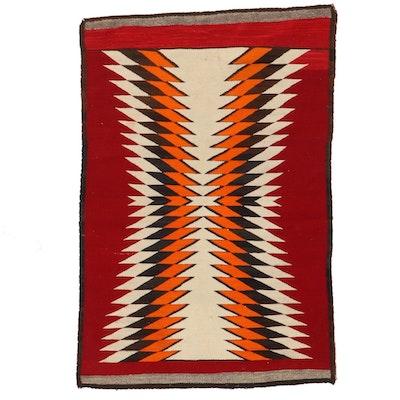 "2'10 x 4'2 Handwoven Navajo ""Eye Dazzler"" Accent Rug"