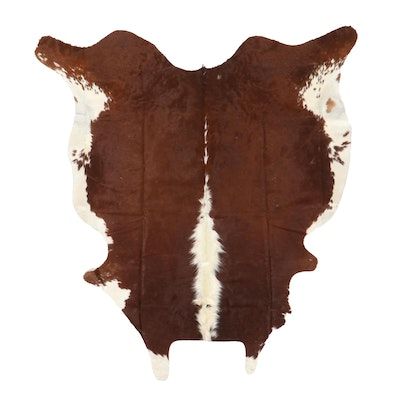 5'11 x 6'7 Natural Cowhide Area Rug