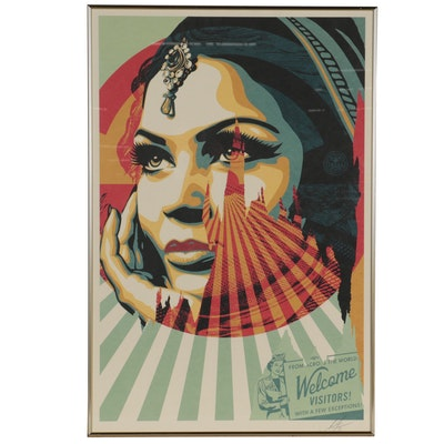 """Shepard Fairey Offset Lithograph """"Target Exceptions,"""" 2021"""