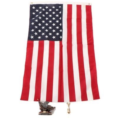 """The Bradford Exchange """"Forever Proud"""" Figure with American Flag and Bell"""