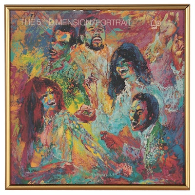 Offset Lithograph After LeRoy Neiman of The 5th Dimension Album Cover