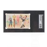 "1893 Honest Long Cut N135 ""He Serves The Ball"" SGC Graded Tobacco Card"