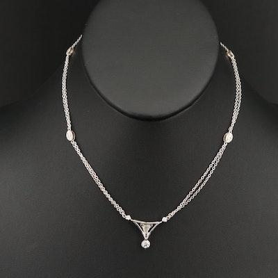 18K Diamond Double Strand Necklace