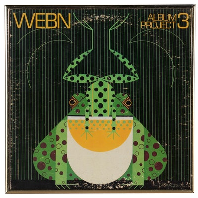 """Offset Lithograph After Charley Harper """"Webn Album Project 3,"""" Late 20th Century"""