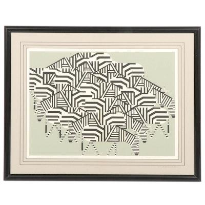 "Charley Harper Serigraph ""Serengeti Spaghetti,"" 1979"