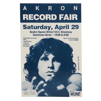 Jim Morrison Themed Akron Record Fair Poster