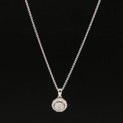 Hallmark Sterling Silver Diamond Pendant Necklace