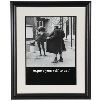 """Offset Lithograph Poster After Mike Ryerson """"Expose Yourself to Art"""""""